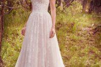 23 strapless sweetheart neckline full embellishment A-line wedding dress by Maggie Sottero