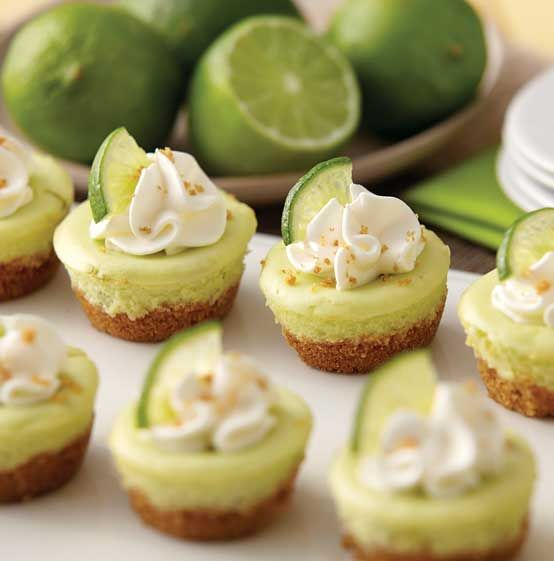 mini lime cheesecakes are a nice choice for wedidng desserts