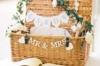 27 a basket for guests' cards