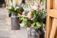 29 milk churn planters are ideal for rustic decor