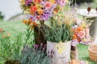 30 masses of wildflowers and just garden flowers for an outdoor ceremony