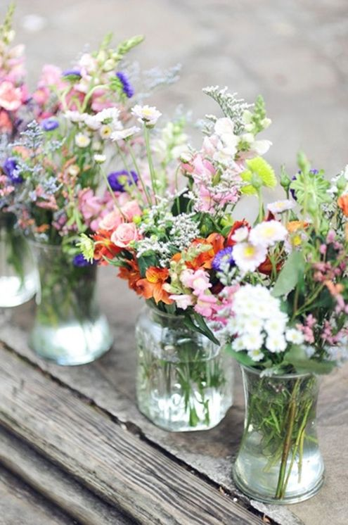 sweet and bold wildflowers for centerpieces and just decor