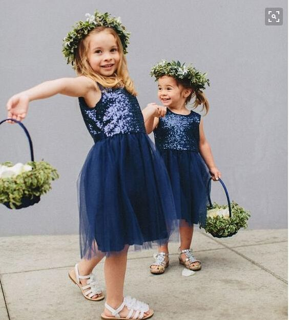 navy sequin bodice and a tutu skirt with cute baskets