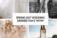 35 spring 2017 wedding dresses that wow cover