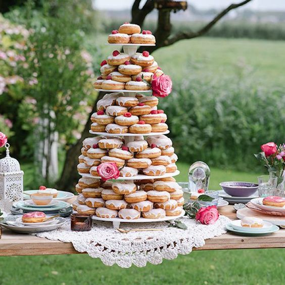 glazed donuts instead of a traditional wedding cake