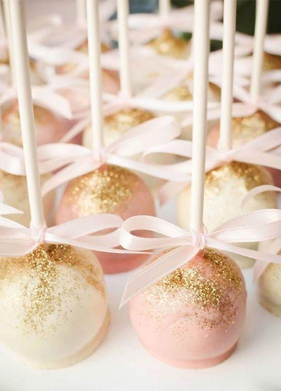 sparkling gold cake pops