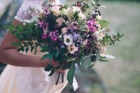 38 cute wildflower bouquet and crown for a boho bride
