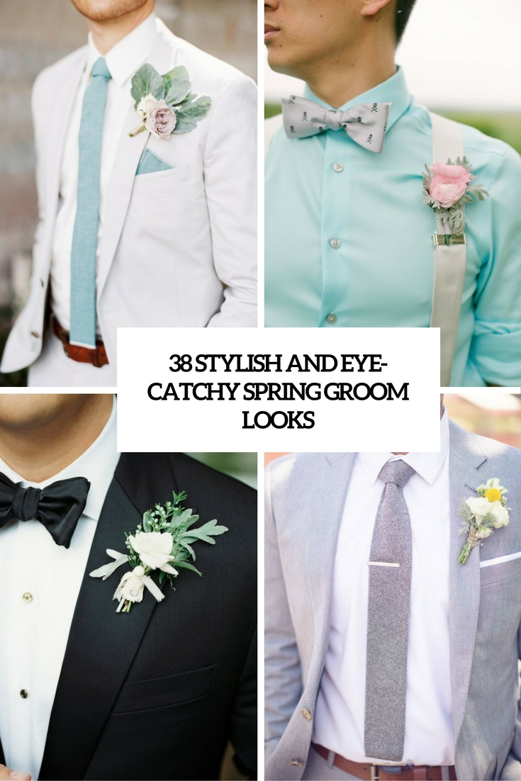 stylish and eye catchy spring groom looks cover
