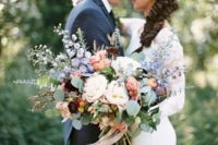 39 pastel-colored oversized bouquet for a boho bride
