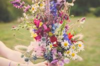 40 bold wildflower bridal bouquet