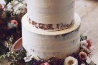 41 semi naked wedding cake with wildflowers are ideal for a boho fete