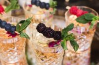 42 signature cocktail with berry toppers