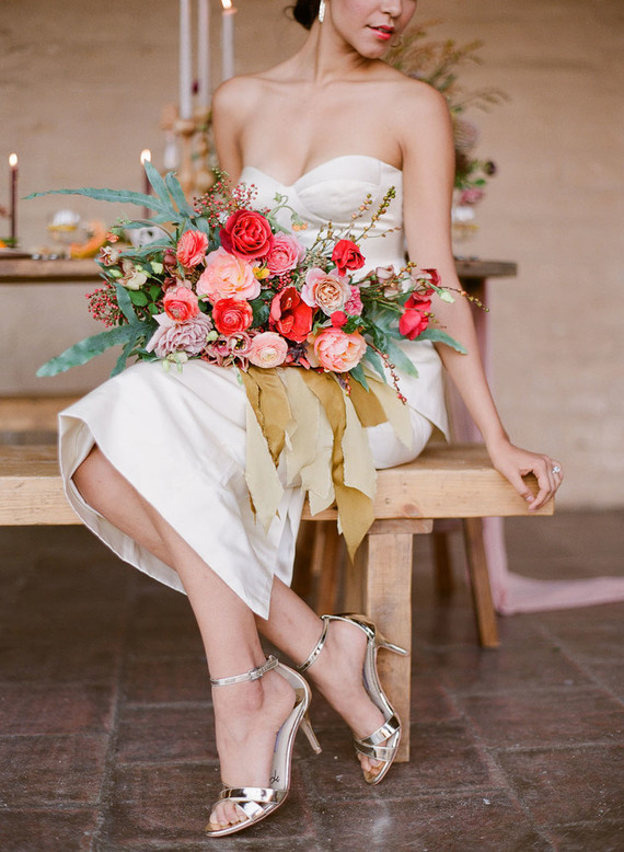 Modern California Wedding Shoot With Bold Florals