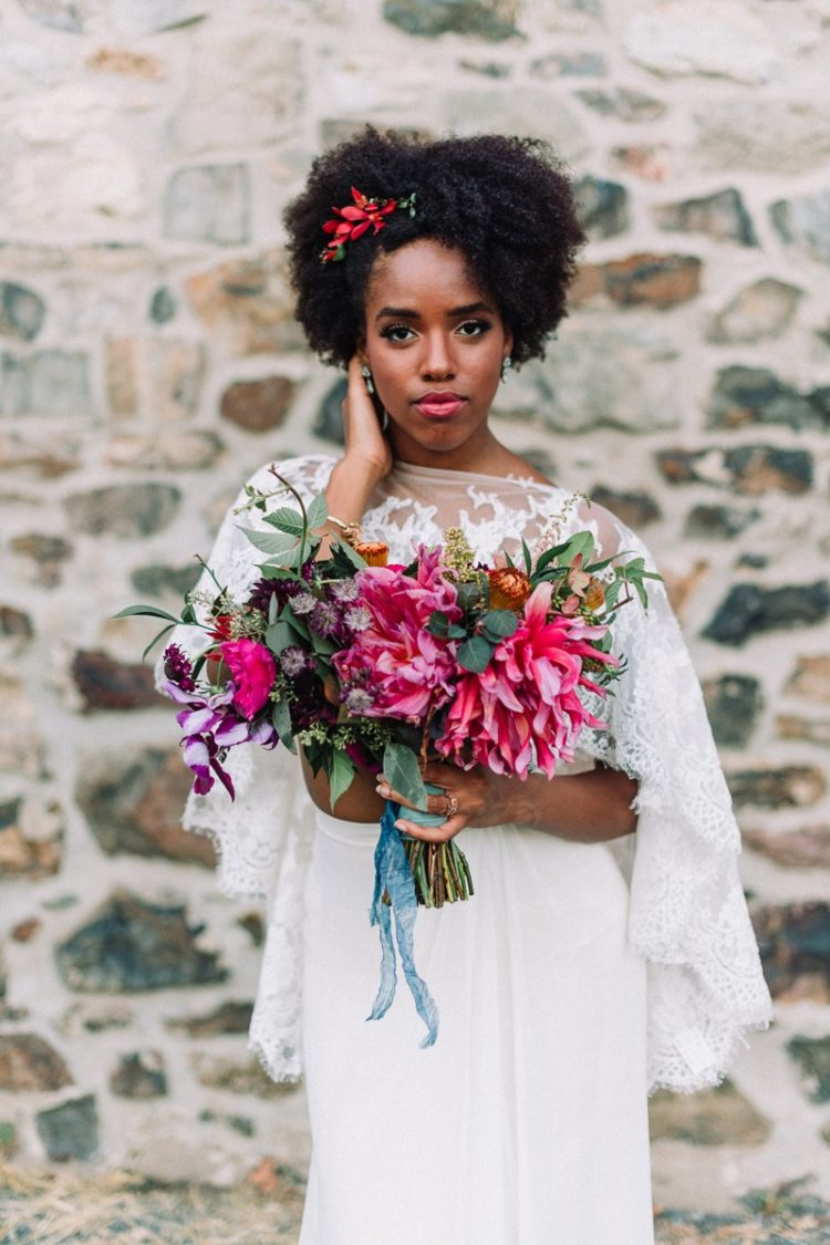 Colorful Industrial Wedding Shoot With Boho Vibes