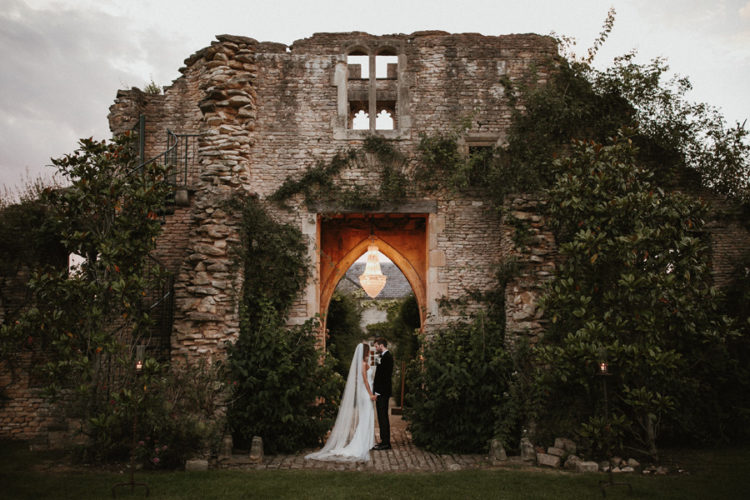 This elegant black tie wedding took place in the Lost Orangery