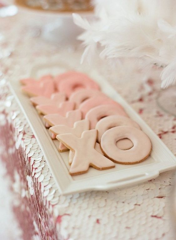 XO glazed cookies are a great idea for any Valentine's Day celebration