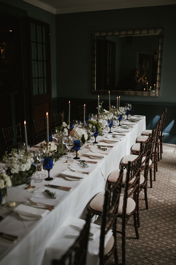 The ceremony was followed by a 5 course lunch for 25 guests that were invited