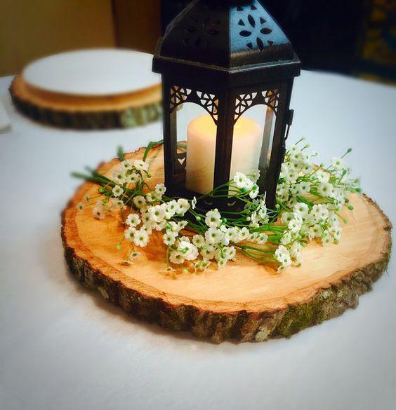 37 Ways To Use Wood Slices At Your Wedding - Weddingomania