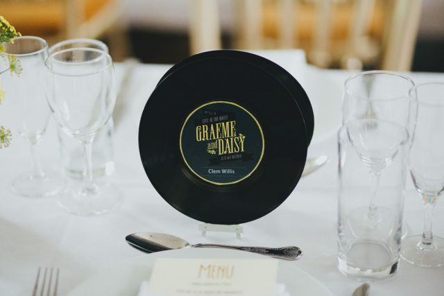Centerpieces and decorations were DIYed by the couple themselves, they were not very whimsy