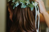 06 eucalyptus crown for bridesmaids and flower girls
