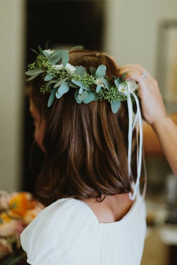 eucalyptus crown for bridesmaids and flower girls