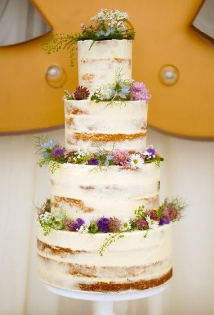 Wildflowers On Wedding Cake