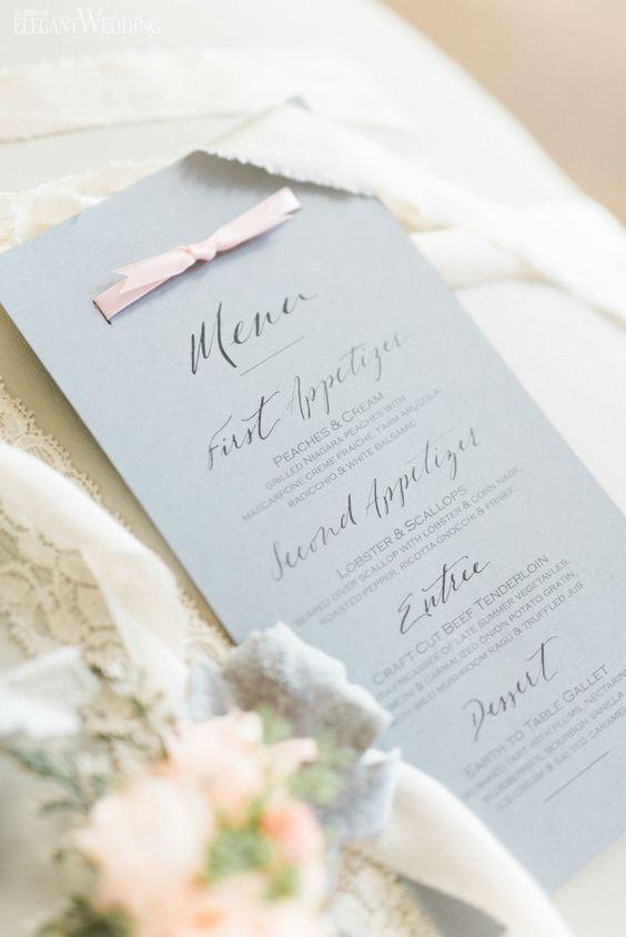 rose quartz and serenity wedding stationery