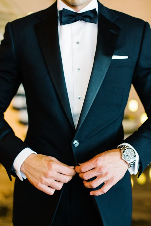 perfect black tuxedo with a modern feel