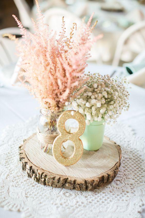Ways to use wood slices at your wedding weddingomania