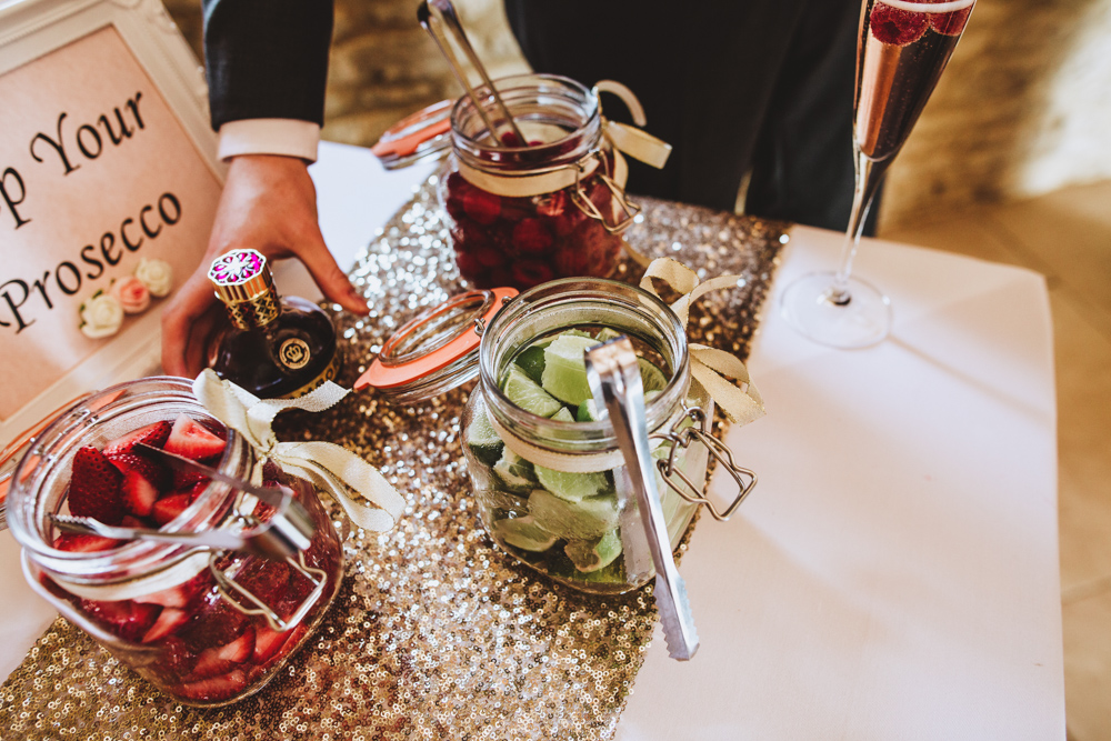 There was a Pimp Your Prosecco bar, which is an amazing idea to steal