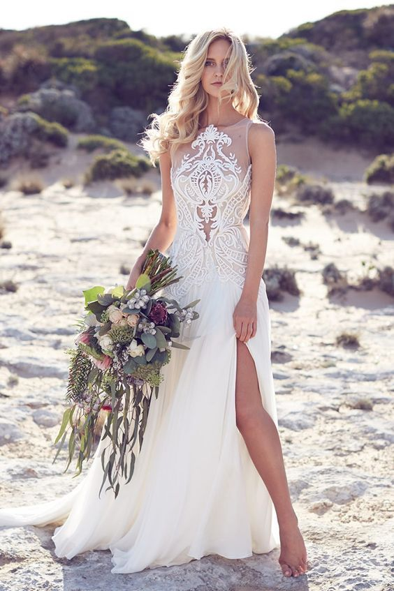 Beach Side Wedding Dresses 65 Off Pbpgi Org