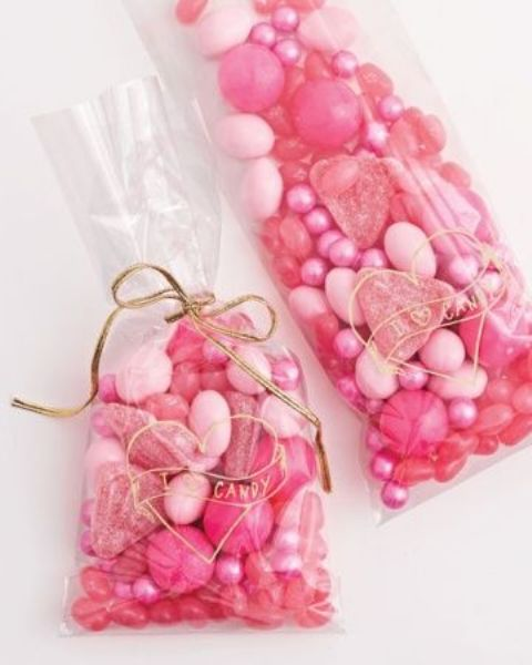 pink candies will be a great idea for a bridal shower gift