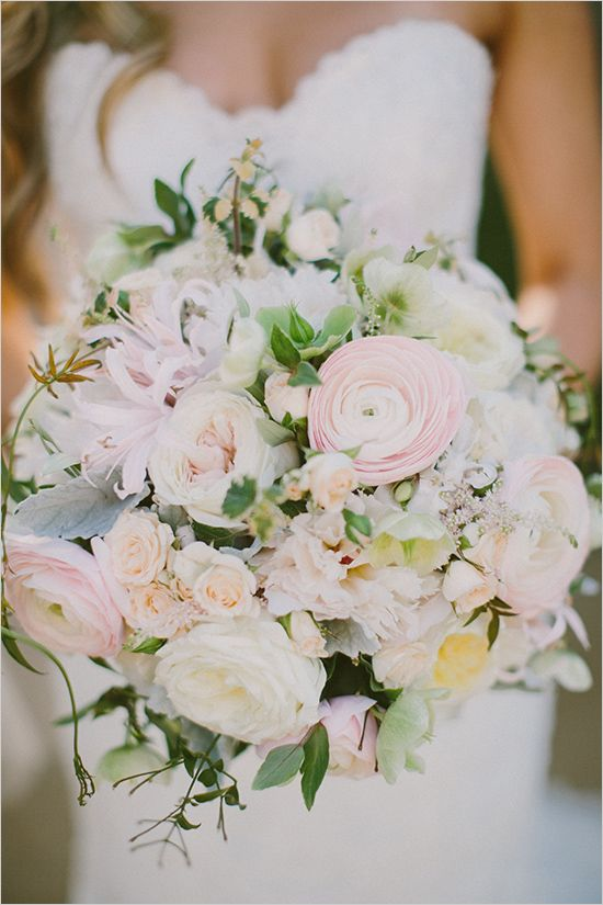 tender blush wedding bouquet
