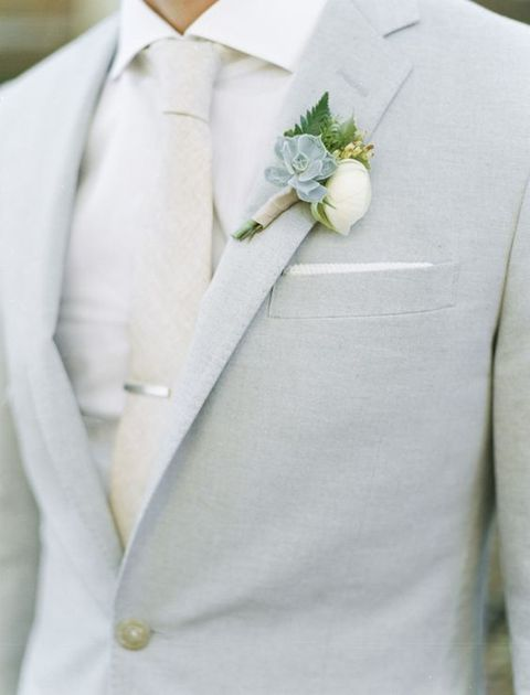 light grey is another great choice for a spring groom, looks refreshing