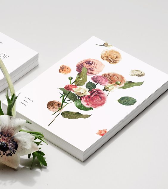 refined rose print stationary is great for any wedding