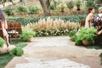 14 pampas grass and flowers for a wedding ceremony spot