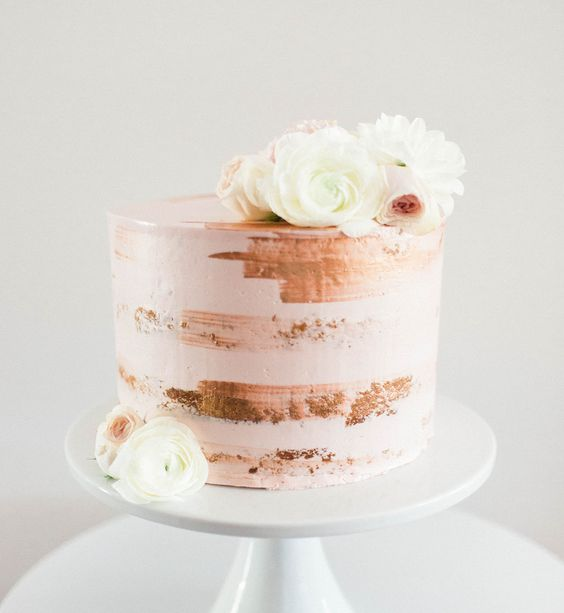 35 Delicious Semi Naked Wedding Cakes