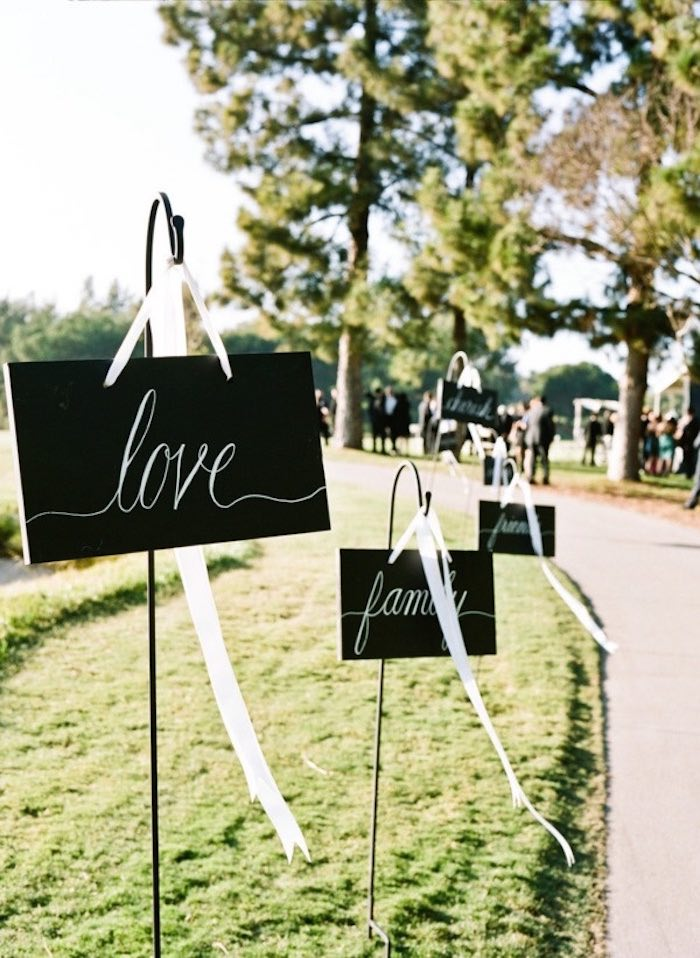 simple black and white signs for decor