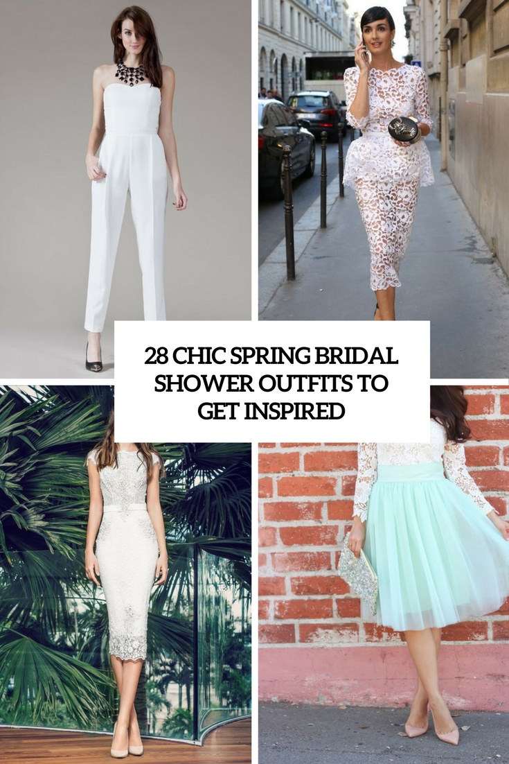 28 chic spring bridal shower outfits to get inspired