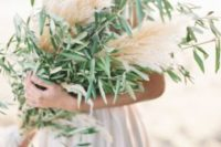 30 wheat and olive branch bouquet