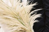 32 pampas grass with velvet ribbon is perfection