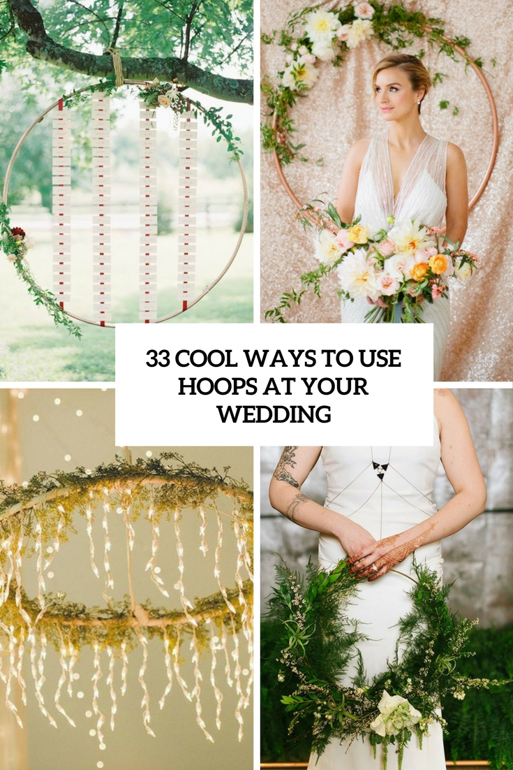 cool ways to use hoops at your wedding cover