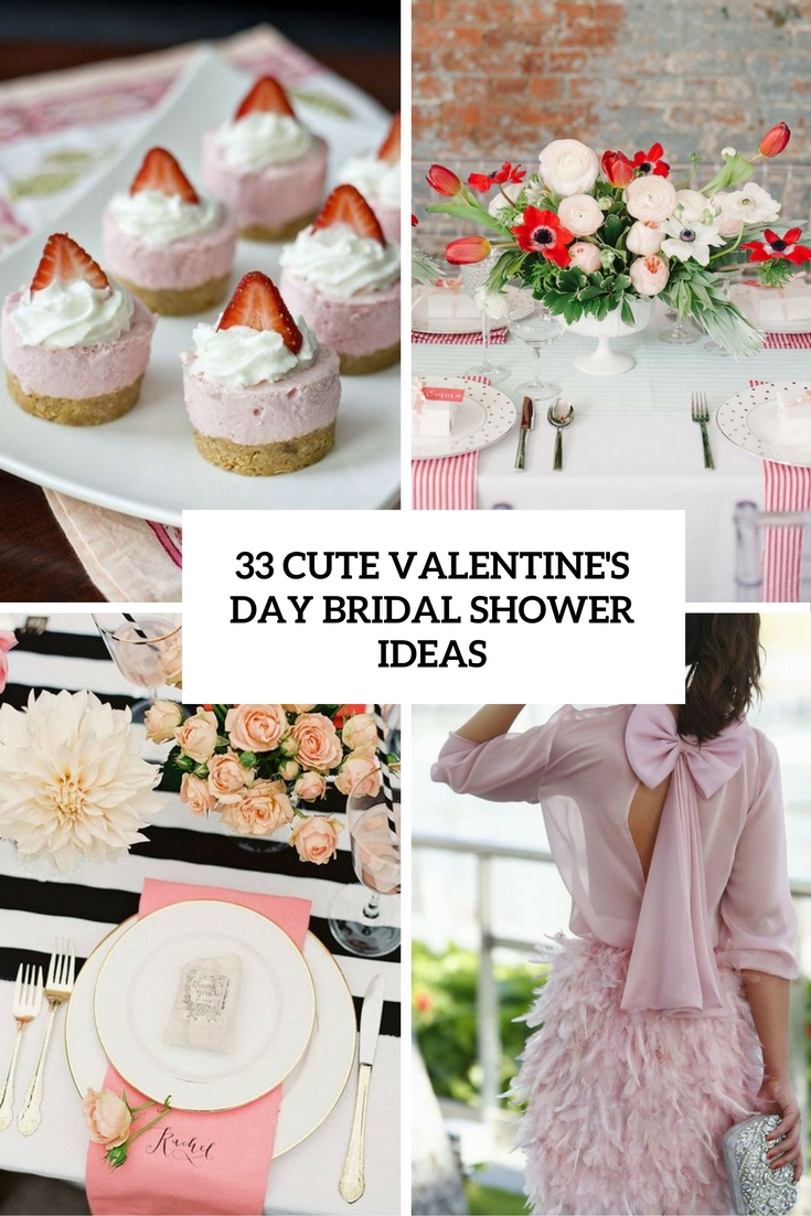33 Cute Valentine's Day Bridal Shower Ideas