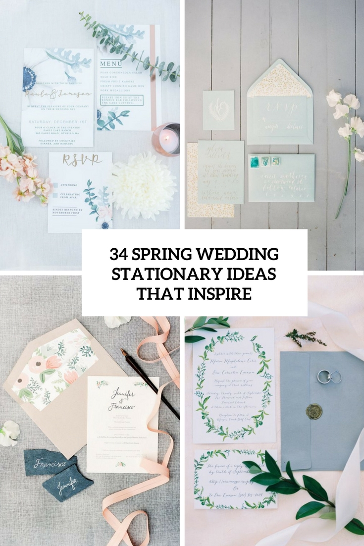 34 Spring Wedding Stationary Ideas That Inspire