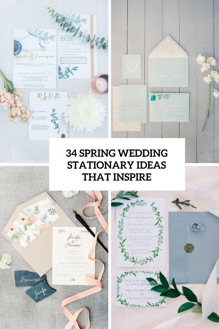 34 Spring Wedding Stationary Ideas That Inspire