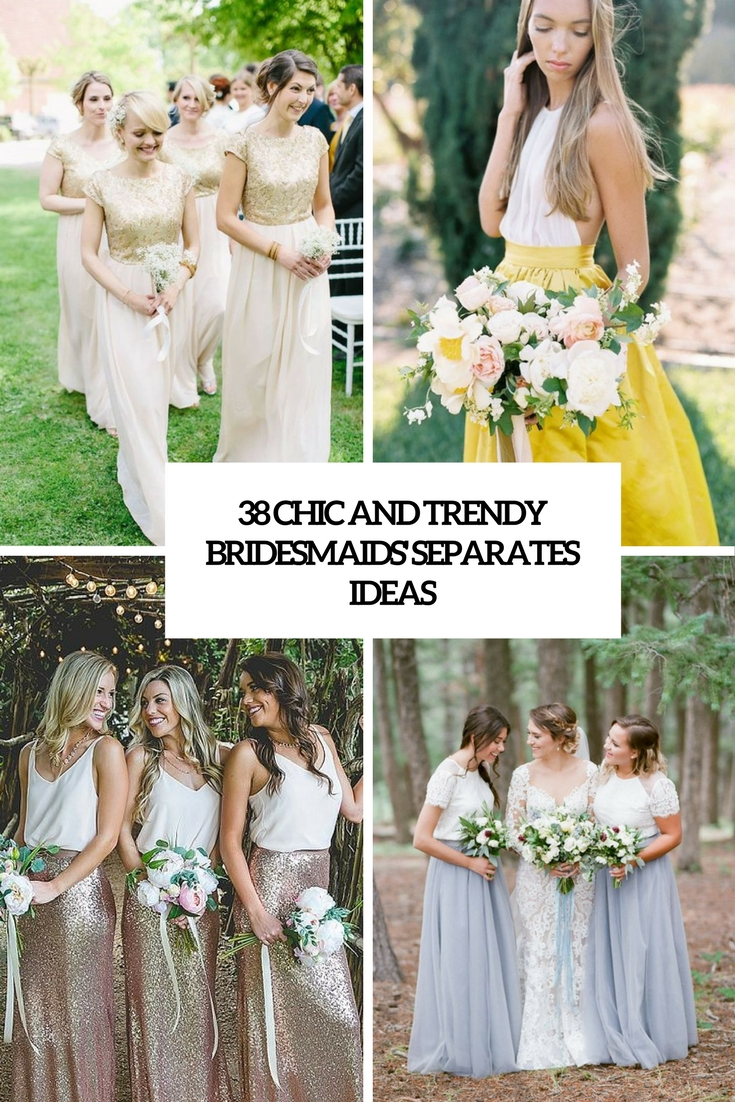 chic and trendy bridesmaids' separates ideas cover