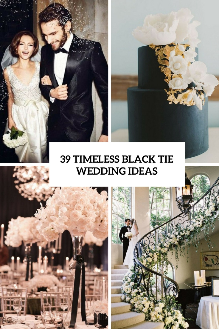 timeless black tie wedding ideas cover