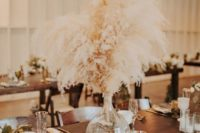 41 pampas grass centerpiece with a table number