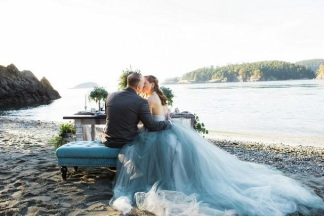 Coastal Wedding Shoot Right On The Beach