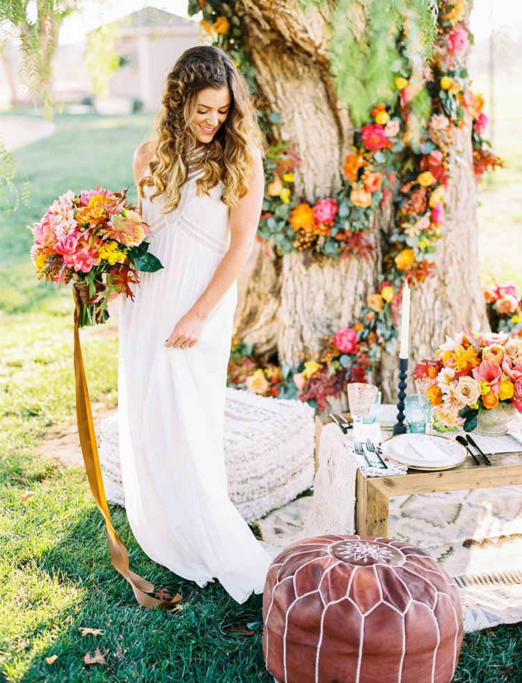 Vibrant And Colorful Fall Wedding Shoot